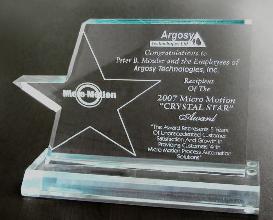Award from MicroMotion (2007)